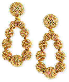 Sachin + Babi Seed Bead Teardrop Clip-On Earrings