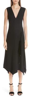 Yigal Azrouel Lace-Up Asymmetrical Dress