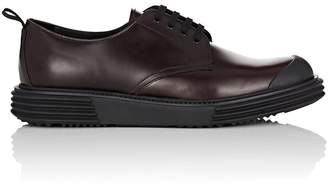Prada Men's Wedge-Sole Leather Bluchers