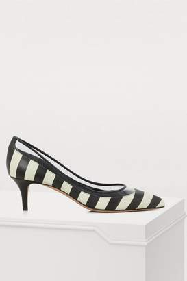 Valentino Calfskin striped pumps
