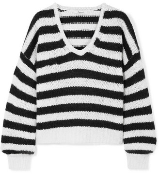 Madewell Striped Knitted Sweater - Black
