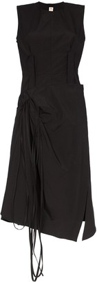 Marni Wrap skirt cotton midi dress