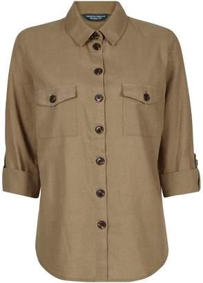 Dorothy Perkins Womens **Tall Khaki Shirt With Linen