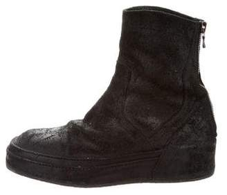 MA Julius Distressed Round-Toe Boots