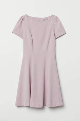 H&M Puff-sleeved Dress - Pink