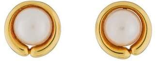 Gump's 18K Mabé Pearl Clip-On Earrings