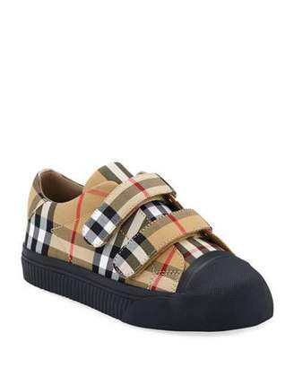 Burberry Belside Check Sneakers, Kids