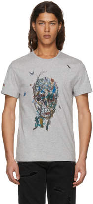 Alexander McQueen Grey Tree Of Life T-Shirt