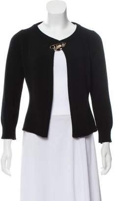 Dolce & Gabbana Wool Safety Pin Cardigan Black Wool Safety Pin Cardigan