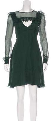 Rochas Long Sleeve A-Line Dress w/ Tags