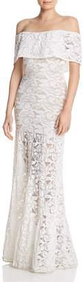 Nightcap Clothing Plumeria Positano Lace Off-the-Shoulder Maxi Dress