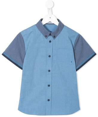 Familiar short sleeve chambray shirt