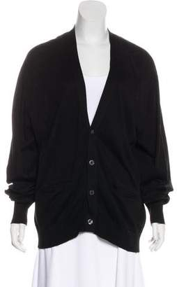Bergdorf Goodman V-Neck Long Sleeve Cardigan