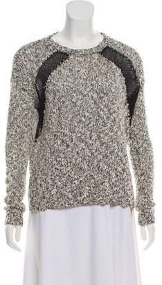 The Kooples Bouclé Scoop Neck Sweater