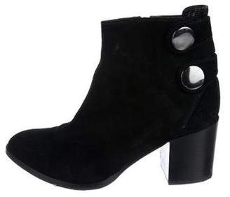 Alberto Fermani Suede Pointed-Toe Ankle Boots