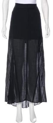 Brunello Cucinelli High-Low Maxi Skirt