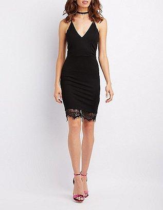 Lace-Trim Racerback Bodycon Dress $29.99 thestylecure.com