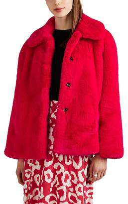 Opening Ceremony Women's Faux-Fur & Faux-Suede Oversized Jacket