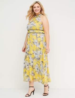 Lane Bryant Floral High-Neck Maxi Dress