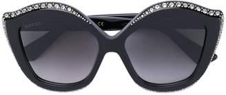 Gucci crystals applique sunglasses