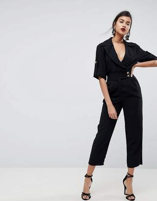 Asos DESIGN Soft Tux Jumpsuit