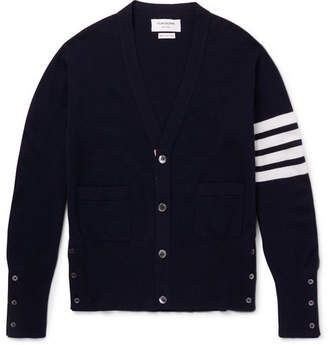 Thom Browne Slim-Fit Striped Cashmere Cardigan - Men - Navy