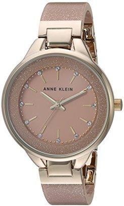 Anne Klein (アン クライン) - Anne Klein Women 's AK / 1408lplpスワロフスキークリスタルアクセントゴールド調とライトピンクShimmer樹脂バングルウォッチ