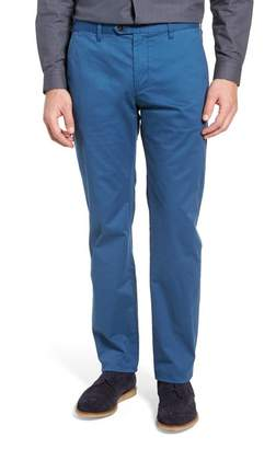 Ted Baker Proctt Flat Front Stretch Solid Cotton Pants