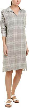 James Perse Plaid Wool-Blend Shirtdress