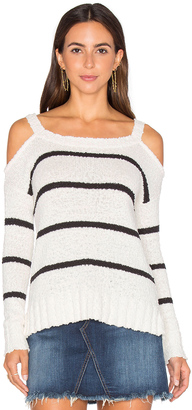 LA Made Kim Cold Shoulder Sweater $92 thestylecure.com