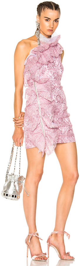 MSGM Rebrode Plated Lace Dress