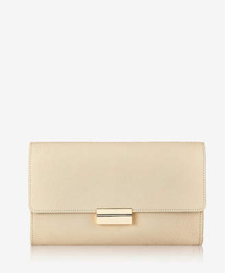 GiGi New York Melrose Clutch Embossed Nappa Croco Leather