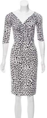 Chiara Boni Animal Print Knee-Length Dress