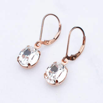 2be2de42e5b619 Katherine Swaine Crystal Oval Leverback Earrings
