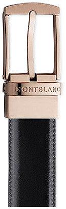 Montblanc Men's Reversible Black/Brown Calfskin Leather Pin Buckle Belt 105122 $270 thestylecure.com