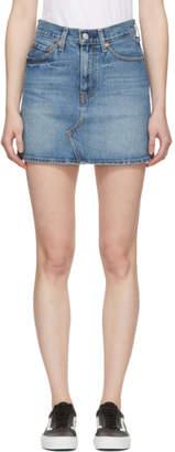 Levi's Levis Blue Deconstructed Denim Skirt