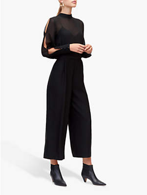 Chiffon Sleeve Jumpsuit, Black