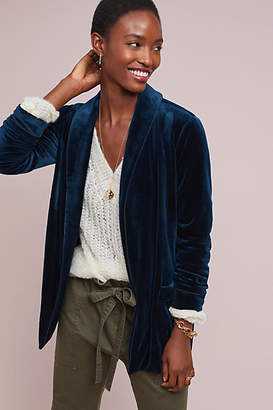Greylin Piped Velvet Jacket