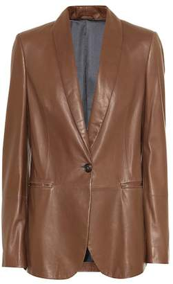 Brunello Cucinelli Leather blazer