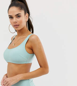 Asos Design DESIGN fuller bust exclusive crop bikini top in shiny mint dd-g