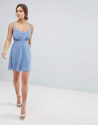 Asos Side Cut Out Mini Dress with Cami Straps