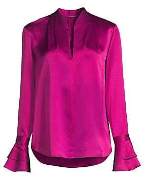 896cadaf5607c Elie Tahari Women s Judith Long Sleeve Silk Blouse