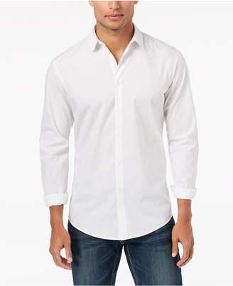 INC International Concepts I.n.c. Men's Scribble Flocked Pattern Shirt