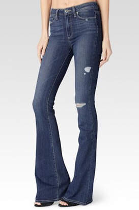 Paige Distressed Flared Jeans
