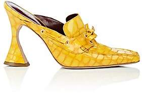 Sies Marjan Women's Remi Stamped-Patent Leather Mules - Yellow