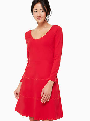 Kate Spade Scallop ponte dress