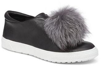 Delman Slip-On Fur Sneakers $248 thestylecure.com