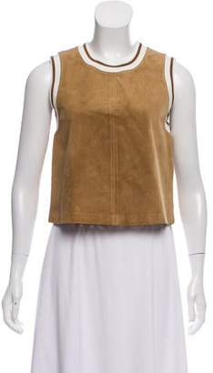Theory Sleeveless Suede Top