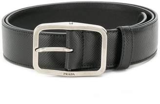 Prada Saffiano buckle belt