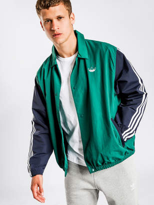 adidas Trefoil Coach Jacket in Green